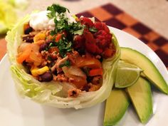 Turkey taco lettuce bowl