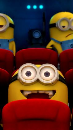 ↑↑TAP AND GET THE FREE APP! Art Cartoon Fun Despicable Me Minions 2015 Blue Yellow HD iPhone 6 Wallpaper