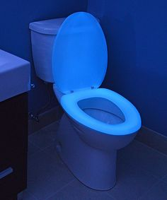 Look at this Blue Elongated Glow in the Dark Toilet Seat on  Glow in the Dark Anti Bacterial Toilet Seat   Toilet. Dark Blue Toilet Seat. Home Design Ideas