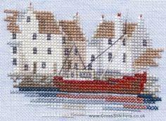 East Coast Harbour - Minuets - Cross Stitch Kit from Derwentwater Designs