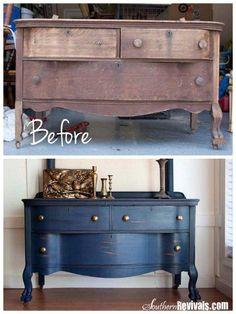 Portfolio: Gold Stripe Dresser | Painted Dressers, Silver And Drawer Pulls