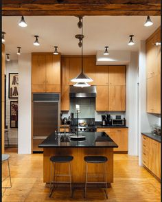 Black and brown kitchen
