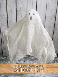 Need an easy way to decorate your house or lawn? Make this cheesecloth ghost DIY! Just a few simple supplies and your house will be ready for Halloween!