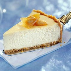 This dazzling cheesecake has buttery cashews in the crust and creamy eggnog in the filling.