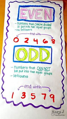 Teaching EVEN and ODD numbers
