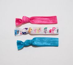 MY LITTLE PONY Birthday 3 pack Elastic Hair Ties by enchantedfelts, $3.55 - pony party favour