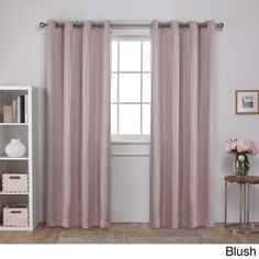 Exclusive Home Curtains Carling Basketweave Textured Woven Blackout Window Curtain Panel Pair with Grommet Top, Blush, 2 Piece Window Curtains, Mattress Furniture, Exclusive Home, Space Furniture, Panel Curtains, Grommet Top Curtains, Colorful Curtains, Grommet Curtains, Blackout Curtains