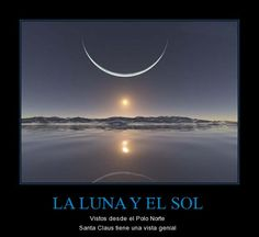 La luna y el sol vistos desde el Polo Norte (participio pasado) - Visti http://www.estudiafeliz.com for more materials for Spanish teachers and students!