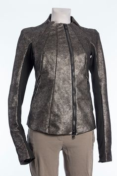 Lederjacke Silber: Frida Frankfurt high fashion store