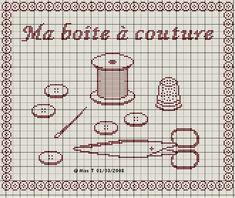 couturière - dressmaker - ma boite à couture - point de croix - cross stitch…