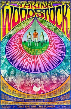 It Take 40 Years to Make a Woodstock Movie With Actual Actors? Taking Woodstock poster.Taking Woodstock poster. 1969 Woodstock, Taking Woodstock, Woodstock Festival, Woodstock Poster, Woodstock Music, Posters Vintage, Retro Poster, Poster S, Custom Posters