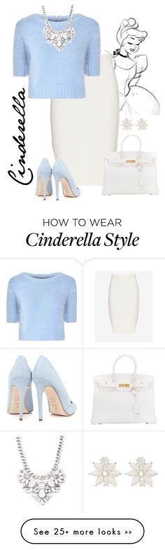 """Cinderella"" by violetvd on Polyvore featuring Jonathan Simkhai, Glamorous, Dee Keller, Forever 21, Hermès and Warehouse"