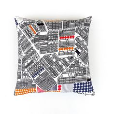 Cityscape Marimekko Cotton Pillow / Cushion Cover in by OnHighat5