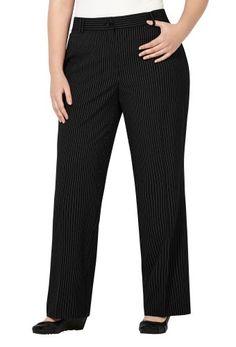 7d741b7d Briggs New York Women's Plus-Size Slash Pocket Pant with No Gap Waistband,  Navy, 24W | Comfy Plus Size Pants | Pants, Plus size pants, Plus size