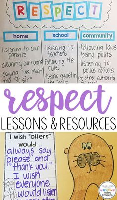 Lessons and ideas for teaching respect in the classroom. Help students understand HOW and WHY they should be respectful to others. Students will talk about being respectful at home, at school, and in the community. After reading Do Unto Otters, students w