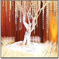 For champagne bar. Silver painted tree with hanging crystals.get a branch, spray paint silver, add crystals! Bling Wedding, Tree Wedding, Crystal Wedding, Wedding Flowers, Bling Party, Wedding Table, Reception Table, Wedding Receptions, Garland Wedding