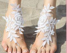7 color Bridal barefoot sandals beach wedding barefoot sandal