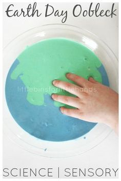 Quick and easy Earth Day oobleck science activity all about liquids and solids. Learn about Non-newtonian fluids with our Earth Day oobleck!