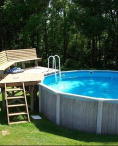 Wow check out this magnificent pool hacks - what a clever theme Steel Pergola, Wood Pergola, Pergola With Roof, Pergola Ideas, White Pergola, Pergola Shade, Fence Ideas, Pergola Kits, Backyard Pool Designs