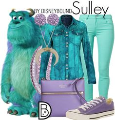 Disney Bound: Sulley (Monsters Inc. Disney Bound Outfits Casual, Cute Disney Outfits, Disney Themed Outfits, Disneyland Outfits, Disney Dresses, Cute Outfits, Disney Clothes, Disney Character Outfits, Character Inspired Outfits