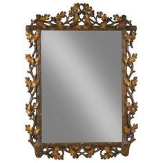 Large Oak Leaf Bevel Mirror