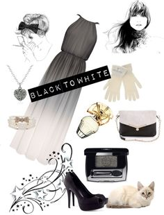 """""""Black to White"""" by ioanaantohi ❤ liked on Polyvore"""
