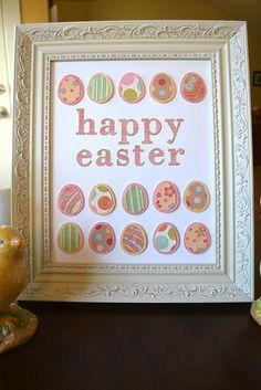 Happy Easter Frame Idea