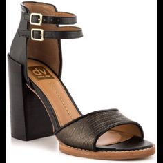 "DV Marynn dress heels. Black and bronze leather upper.  Synthetic heel. 3.25"".dual adjustable straps.  Super cute!! Worn twice with Light signs of wear. DV by Dolce Vita Shoes Heels"