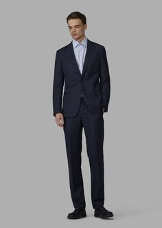 Fine materials and design for this Slim Fit Half Canvas Twill Blend Soho Suit by Giorgio Armani Men. Take a look at the official online store now. Giorgio Armani, Soho, Armani Ties, Smoking, Slim Fit Jackets, Silk Bow Ties, Leg Cuffs, Mandarin Collar, Mens Suits
