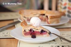 Inspired by the Great British Bake Off pie week, A Mummy Too shares this apple and blackberry number