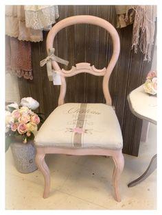 #rosa #stol #möbler #inredning #målademöbler #färg #pink #paintedfurnitures #paint #mjölsäck #grainsack #rosor #roses