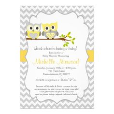 Owl Baby Shower Invitation http://www.zazzle.com/owl_baby_shower_invitation-161810623867116932?rf=238282136580680600* $2.05