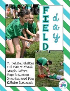 Field Day Games For Kids Discover Ultimate School Field Day - Complete Plan with 25 Stations & Editable Forms