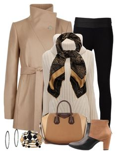 """""""Fall Coat"""" by terry-tlc ❤ liked on Polyvore featuring Ted Baker, Paige Denim, Alexander McQueen, Jaeger, Givenchy, Miista and Greenbeads"""