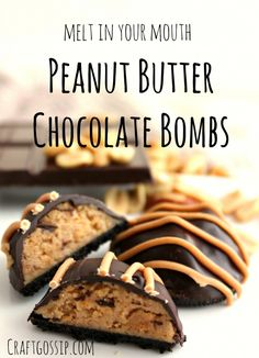 The sweet and salty combination of chocolate and peanut butter is irresistible to many people, and thiscookie not only offers both flavors, it adds a satisfying crunch — and you don't even have to turn onyour oven.Store … Read More. Carmel Chocolate Chip Cookies, Chocolate Bomb, Chocolate Recipes, Best Peanut Butter, Chocolate Peanut Butter, Healthy Desserts, Delicious Desserts, Baking Recipes, Dessert Recipes
