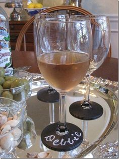 What a great idea for a party!!  No more drinking out of the other guy's glass.