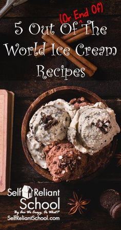 Five easy, whole food ice cream recipes, plus thoughts about making ice cream as a bartering skill. #beselfreliant