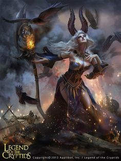 The Witch - Legend of the Cryptids character concept by ashra