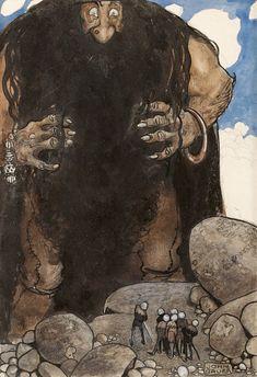 John Bauer Swedish Fairytales 6 18x17 INCHES ART PRINT