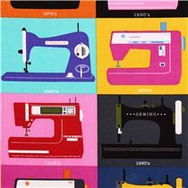 Timeless Treasures retro sewing machines sewing fabric