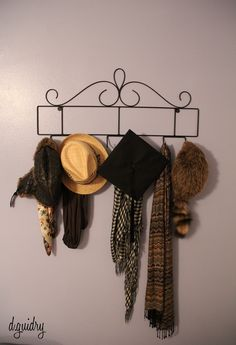 Use a decorative plate holder for hats/scarves instead! (I use smaller matching plate holders for jewelry! & Alternative use for plate display rack. | Craft ideas | Pinterest ...