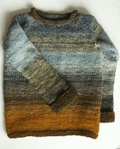 Ravelry: tinygiraffe's Shipwrecked in an Autumn Storm — the beauty of knitting with handspun versus commercial yarn Ravelry: tinygiraffe's Shipwrecked in an Autumn Storm — the beauty of knitting with handspun versus commercial yarn Boys Sweaters, Knit Sweaters, How To Purl Knit, Pulls, Hand Knitting, Knitting Patterns, Crochet Patterns, Knitwear, Knit Crochet