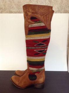 New $495 FREEBIRD by Steven Size 6,7 Caballero Leather High Boots Brown,Wool  #FreebirdbySteven #FashionOvertheKnee