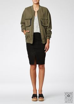 Bonnie Jacket Deep Khaki | Jacka, Snygga kläder, Kläder