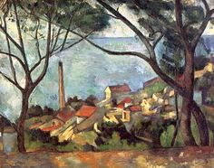 The Sea at L'Estaque.by Paul Cezanne.by Paul Cezanne Cezanne Art, Paul Cezanne Paintings, Fine Art, French Artists, Matisse, Art World, Oeuvre D'art, Les Oeuvres, Oil On Canvas