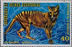 Thylacine stamp from equatorial guinea