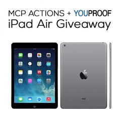 Enter to Win an iPad Air from MCP Actions + YouProof!  www.mcpactions.com - MCP Makes Editing Easier, Faster and More Fun for Photographers.