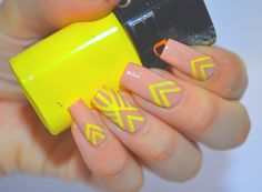 I'm might be unpretty but at least I'm well polished   A nail art blog. #nails #nail #nailart #nailpolish #sephora #nude #yellow #neon #lines