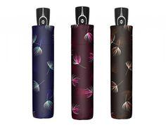 Krásný dámský deštník posetý jemným peříčkem. Skládací, plně automatický. V barvě fialové, modré a hnědé. Dárková krabička Doppler jako dárek k deštníku. Fiber, Lipstick, Beauty, Lipsticks