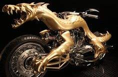 3D Printed Dragon Motorcycle.  Details:  http://3dprintboard.com/showthread.php?3149-3D-Printed-Dragon-MotorCycle-From-Orange-County-Choppers